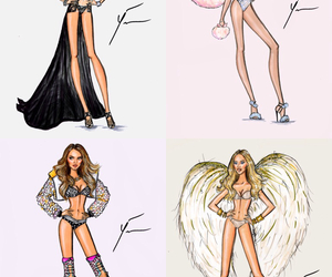 angel, art, and bra image