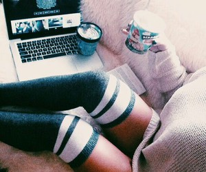 fashion, sock, and teen image