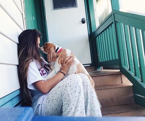 cachorro, garota, and perfeito image