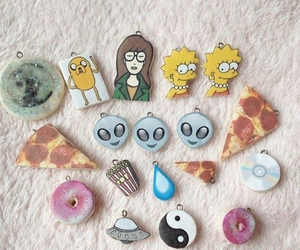 alien, pizza, and Daria image