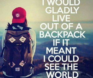 backpack, dreams, and live your life image