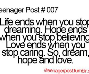 love, hope, and teenager post image