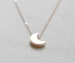 moon, necklace, and jewelry image