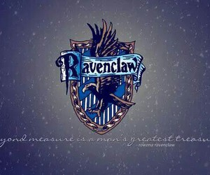 ravenclaw, blue, and hogwarts image