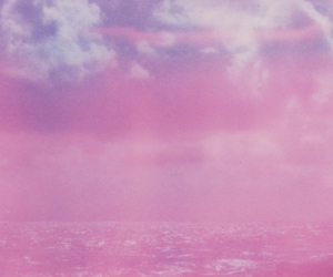 pink, sky, and sea image