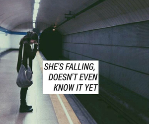 grunge, quote, and train tracks image