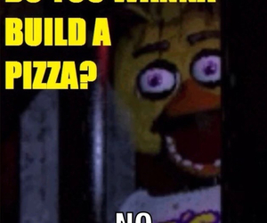 pizza, funny, and five nights at freddy's image