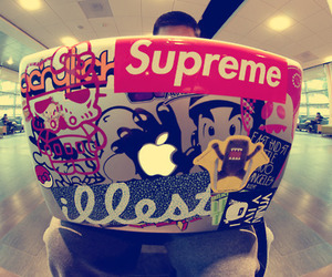 supreme, apple, and swag image