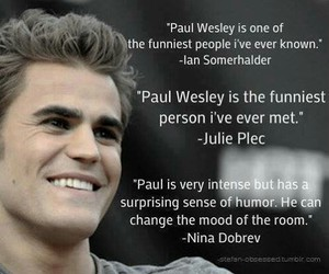 paul wesley, tvd, and funny image