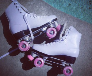 pink, white, and rollers image