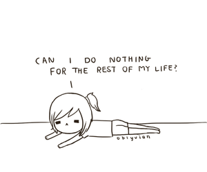 Lazy, anime, and life image
