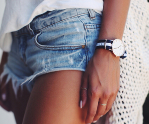 denim, outfit, and watch image