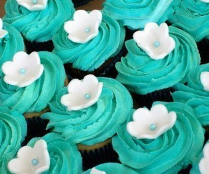 blue, cakes, and sweets image