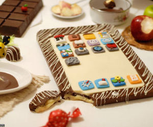 chocolate, food, and ipad image