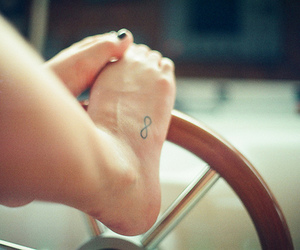 tattoo, feet, and infinity image