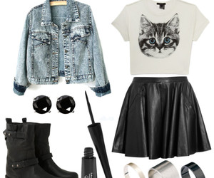 outfit, cat, and clothes image