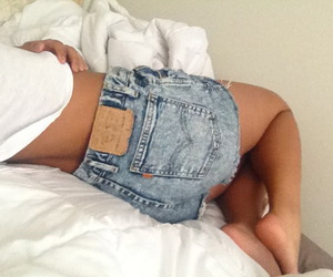 bed, jeans, and clothes image
