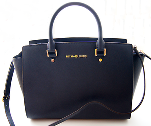 bag, black, and Michael Kors image