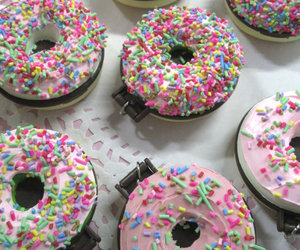 donuts, food, and hipster image