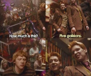 weasley, brothers, and harry potter image