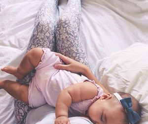 baby, legs, and mama image