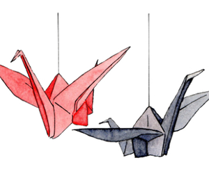 overlay, origami, and transparent image