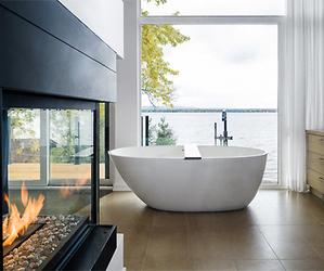 house, bathroom, and luxury image