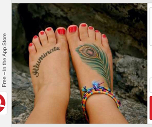 color, feather, and tattoo image