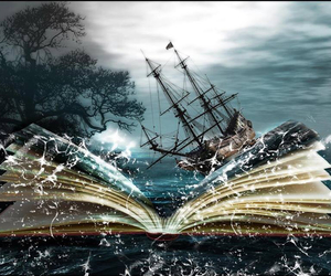 book, fantasy, and storm image