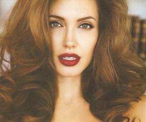 Angelina Jolie, sexy, and hair image