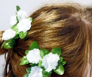 floral, flowers, and hair image