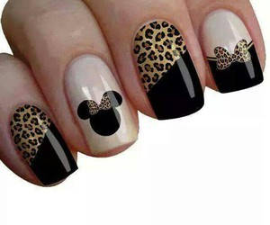 nails, black, and minnie image