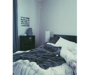 polaroids, room, and messy bed image