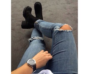 jeans, fashion, and shoes image