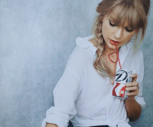 Taylor Swift, coke, and red image