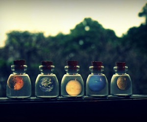 beautiful, jars, and planets image