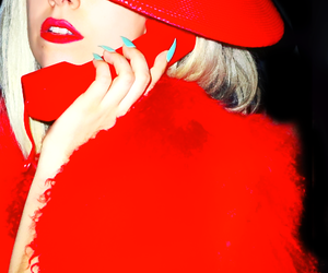 gaga, Lady gaga, and red image