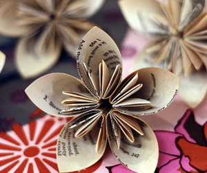 flowers, Paper, and origami image