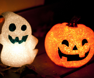 Halloween, pumpkin, and ghost image