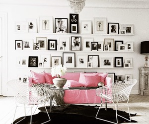 interior, pink, and bed image