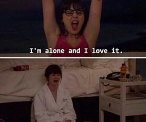 alone, funny, and valentine image