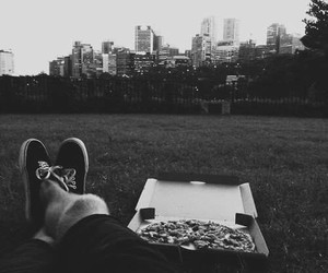 pizza, city, and vans image