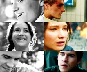 peeta, gale, and the hunger games image