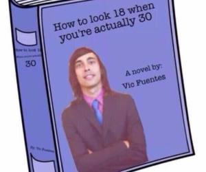 vic fuentes, pierce the veil, and book image