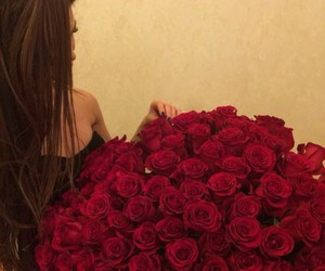red roses, roses, and sweet. image