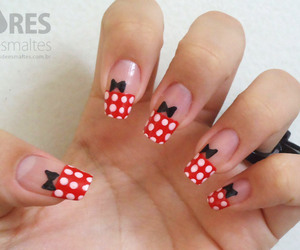 disney, nails, and red image