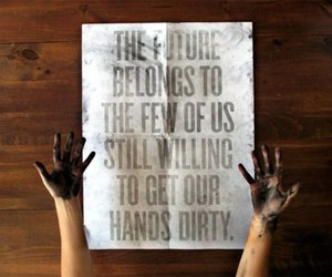 quote, future, and hands image