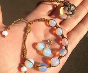 bracelet, stones, and fashion image