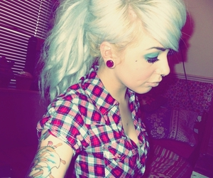 girl, tattoo, and fluffypaws image