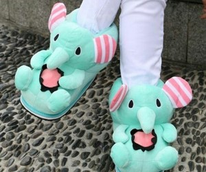 baby, slippers, and cute image